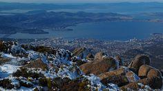 Hobart, Australia from Mount Wellington