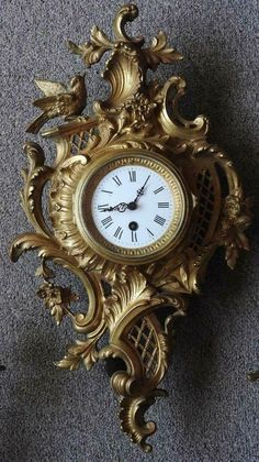 Wall Clock Brands, Wall Clock Online, Wall Clock Luxury, Molduras Vintage, Antique Wall Clocks, Upscale Furniture, Classic Clocks, Retro Clock, Wall Clock Design