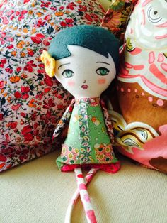 Super cute handmade doll by DanitaArt
