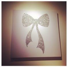 Bow canvas art girly