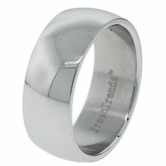 Wide Band High Polish Stainless Steel Ring - Size 6 FreshTrends. $2.34