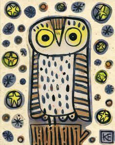 'Midnight Sparkle Owl' by Kate Endle