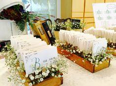レストランウェディング  エスコートカード  http://www.bridal-grace.jp