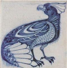 Antique Victorian Picture Ceramic Tile by William de Morgan, Chelsea Victorian Tiles, Antique Tiles, Antique Art, William Morris, Tile Art, Mosaic Tiles, Vintage Pottery, Pottery Art, Art Nouveau Tiles