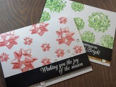 Welcome to day 18 of my holiday card series. We are slowly creeping to the end of the holiday series. Today I used two different layering bow stamps from The. Holiday Cards, Christmas Cards, The Ton Stamps, Step By Step Painting, Altenew, Painting Lessons, Card Tags, Cardmaking, Bows
