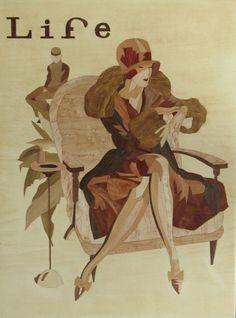 Art Deco Life Magazin Cover der 1929 von R. John von HolzundLeinen