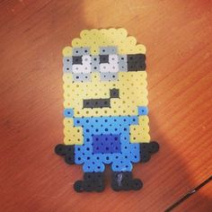 Minion perler beads by lilbeccaboo