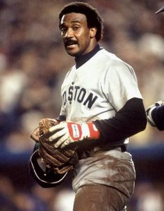 Jim Rice of the Boston Red Sox stands on the field during Game seven of the 1986 World Series against the New York Mets at Shea Stadium on October Boston Baseball, Red Sox Baseball, Baseball Socks, Boston Sports, Baseball Players, Boston Red Sox, Baseball Classic, Jim Rice, Red Sox Nation