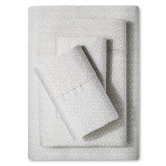 Performance Sheet Set (California King) Stamped Block Print Beachcomber 400 Thread Count - Threshold