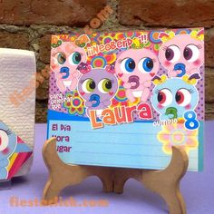 Distroller Isabelonga invitacion Baby Shower, Ideas Para Fiestas, Event Organization, Shopkins, 8th Birthday, My Princess, Birthday Candles, Nerdy, Onesies