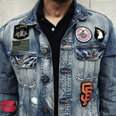 Derby Jeans Community - Online Shopping webite for Mens casual wear in India. Buy Shirts, T-Shirts, Trousers, Jeans, Joggers & Jackets for men. Denim Jacket Patches, Denim Shirt Men, Denim Jacket Men, Denim Jackets, Jeans Levis 501, Jeans Levi's, Slim Fit Casual Shirts, Casual Wear For Men, Denim Fashion