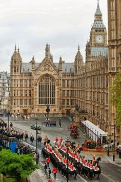 ♔ Palace of Westminster, London.