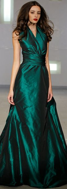 Marc Bouwer - green gown - 2014