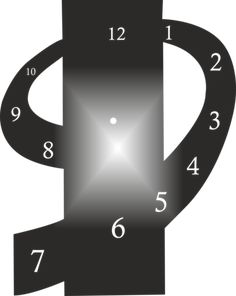 Clock-design-CDR-AI-DXF-File-for-CNC-Laser-Plasma-amp-Water-Jet-Router-CLOCK0009 Cnc Plasma, Plasma Cutting, Wall Clock Design, Wall Art Designs, Clock Face Printable, Life Hacks Youtube, Cut Out Art, Logo Mugs, Laser Cut Patterns