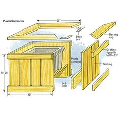 Built In Deck Planters | ... Planters - Freestanding Decks - How to Design & Build a Deck. DIY