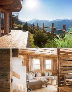 STAY #escapethecity – WOHNEN in einem der drei Alm-Chalets. Alle sind sehr luxuriös (top Austattung, Sauna, Outdoor Whirlpool) und dennoch sehr verbunden mit der unglaublichen Landschaft der Tiroler Berge im Zillertal (1200 m) _ eine echte Stadtflucht! #tyrol #mountains #chalet #luxury