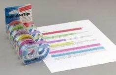 I added highlighter tape because it is a simple tool to assist students in their reading. The students can place the tape on the important information while reading and studying. The tape can be easily removed when the student is done. The tape could be used in any classroom or sent home with the student.