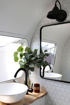 caravan renovation ideas 61431982404350039 - House Tour: A Renovated 1972 Airstream Trailer Airstream Bambi, Airstream Basecamp, Airstream Living, Airstream Remodel, Airstream Renovation, Airstream Interior, Airstream Trailers, Trailer Remodel, Airstream Camping
