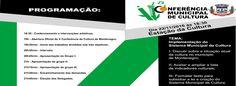 INFORMATIVO GERAL: CONFERÊNCIA MUNICIPAL DE CULTURA DE MONTENEGRO 201...