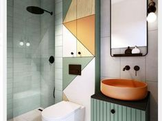 La salle de bains is not just a plus of more than three - Badezimmer /Toilette - Bathroom Decor Modern Bathroom Decor, Bathroom Interior Design, Small Bathroom, Modern Decor, Interior Decorating, Bathroom Ideas, Modern Interior, Bathroom Mirrors, Funky Bathroom