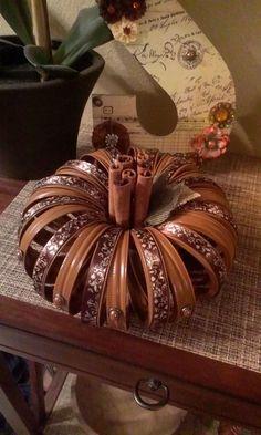 Mason jar ring pumpkins is part of Upcycled Crafts Awesome Mason Jars - Mason jar ring pumpkins Upcycled Crafts, Diy And Crafts, Jar Lid Crafts, Mason Jar Crafts, Autumn Crafts, Holiday Crafts, Holiday Decor, Jar Jar, Jar Lids