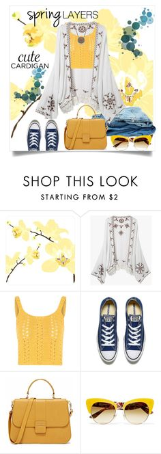 """""""Cute Cardigan:  Spring Layers"""" by juliehooper ❤ liked on Polyvore featuring Glamorous, Converse, Dolce&Gabbana, cutecardigan and springlayers"""