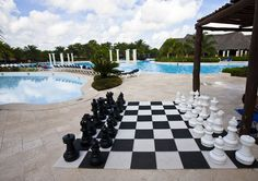 Am I the only one that has great memories while staying at hotels growing up?  Ping pong, arcade games, etc.  I don't think they had giant chess sets back then, but would've loved that too!