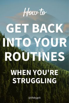 You were good about sticking to your routines for months, but now you've fallen out of them and can't seem to get back on the wagon. Here's how you can get back on your routines and start seeing progress again! Work Goals, Time Management Skills, Self Development, Personal Development, Thing 1, Get Your Life, Morning Motivation, Get Back, Working Moms