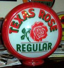 Vintage Gas Pump Image Album - Texas Rose Rugular 1940s Capco