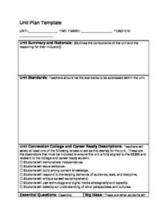 First Grade Readers Workshop Backwards Design Unit Plan Story - Robert marzano lesson plan template