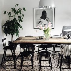 Dining room/workspace #interior #inredning #chaisesnicolle #artelleriet #homestyling #design #hannahlemholt