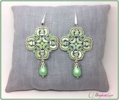 Venezia earrings pattern. How to make arcos kheops by 75marghe75