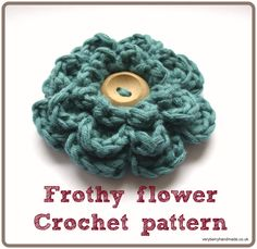 Frothy flower crochet pattern header