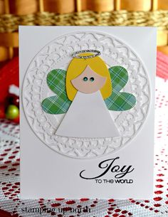 stamping up north with laurie: Echo Park Holy Angel Stamping Up Cards, Echo Park, Joy To The World, Lawn Fawn, Christmas Carol, Happy Sunday, Playing Cards, Children, Ideas