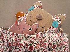 Ton doudou Art Et Design, Illustrations, Objet D'art, Teddy Bear, Toys, Animals, Creative Workshop, Softies, Fabrics
