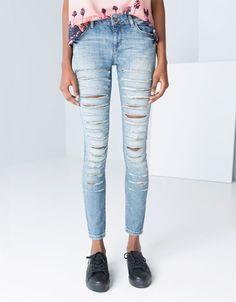 Jeans Bershka Details Schnitte