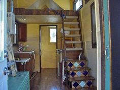 inside sarahs tiny house 1   How this Woman Built a Tiny House on Wheels: Interview with Sarah Myers