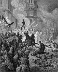 L'entrata dei crociati a Costantinopoli in un'incisione di Gustave Doré