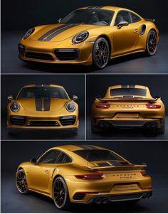 Special edition gold Porsche 991.2 Turbo S 911 ❤️❤️❤️❤️❤️❤️❤️