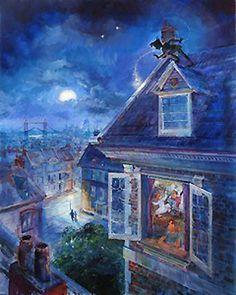 Peter Pan - Waiting for Peter Pan - Harrison Ellenshaw - World-Wide-Art.com