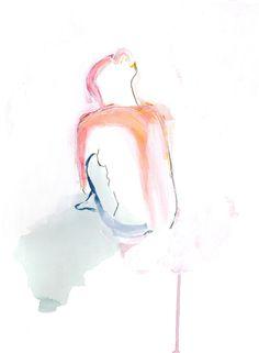 Girl in Brights Art Print
