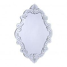 Espejo de cristal cruz 60x2x82 cm. http://ow.ly/nppf0