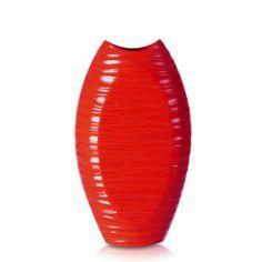 Amazon.com - Adeco [VS0003-R] Decorative Wood Vase- Red
