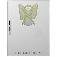 Yellow Awareness Ribbon Custom Dry Erase Board for Bladder Cancer or Sarcoma/ Bone Cancer