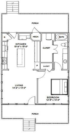 PDF house plans, garage plans, & shed plans. Br House, Tiny House Living, Garage Plans, Shed Plans, Garage Apartment Floor Plans, Car Garage, Granny Pods, 1 Bedroom House Plans, Small House Floor Plans