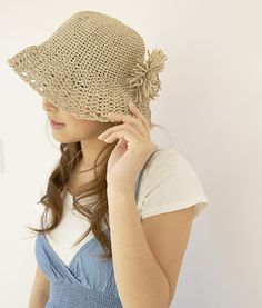 crochet sun hat - free pattern Más