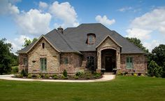 Exterior brick and stone Design Ideas, Pictures, Remodel and Decor