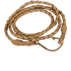 HYBX3234 Free shipping Braided Leather Hope Bracelet with Fishing hook... ($6.99) ❤ liked on Polyvore featuring jewelry, bracelets, hook jewelry and clasp jewelry