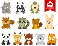 Woodlands Animal Digital Clipart for Personal and by applemoment, $5.00