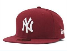 1pcs Burgundy New York Yankees Snapback Hats Hip-Hop Style Baseball Bboy Caps | eBay